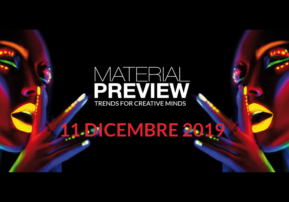 material preview presentazione nuova collezione